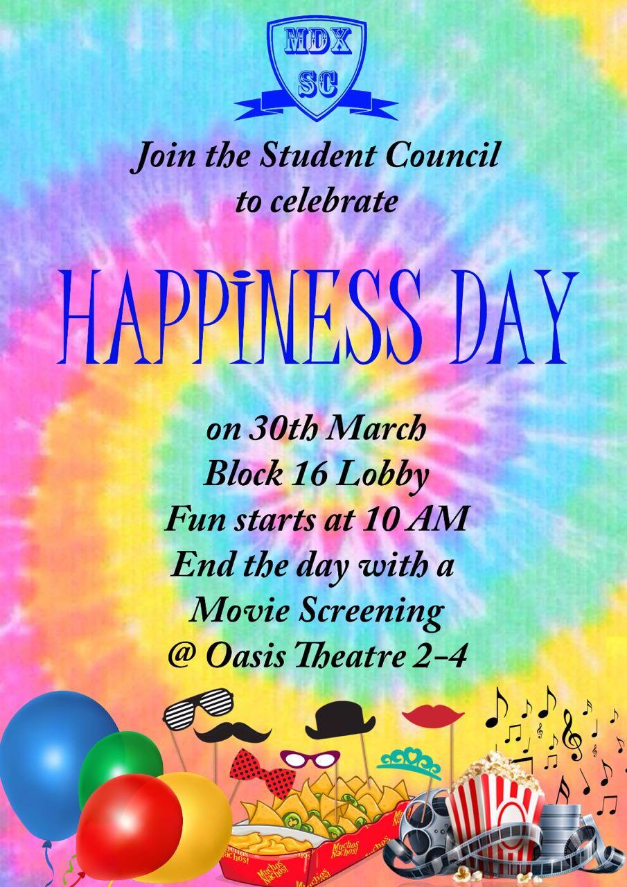 MDX celebrates Happiness Day