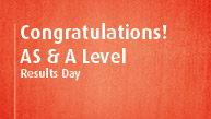 Congratulations on receiving your AS / A Level results