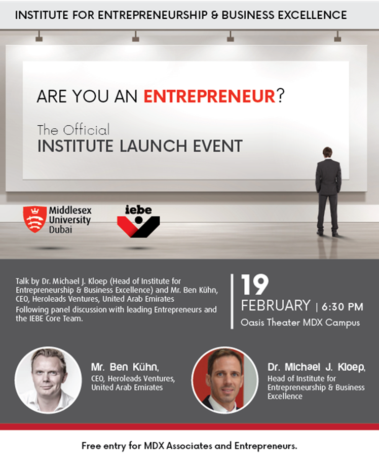 Are you an Entrepreneur? The official Institute Launch Event