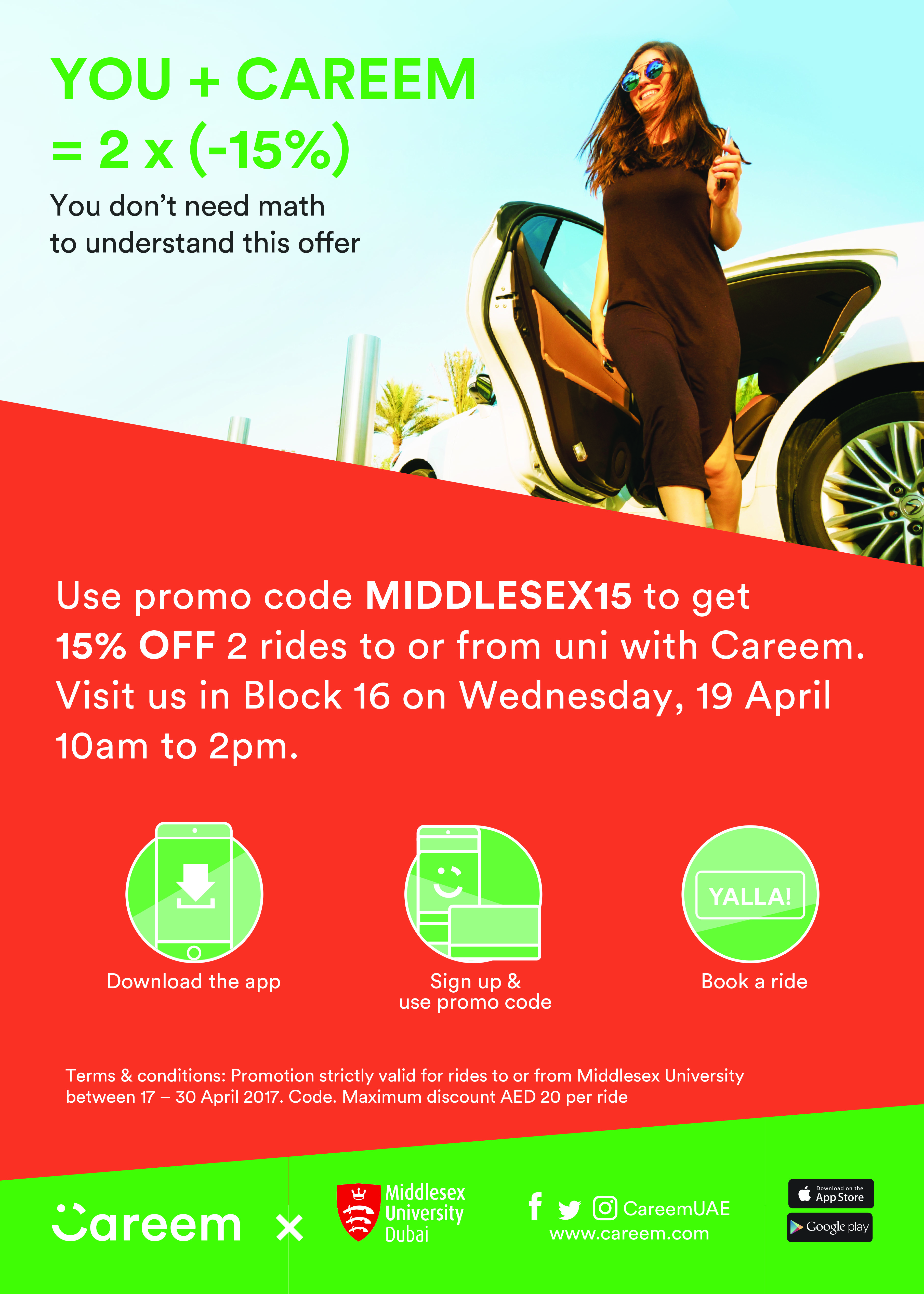 Careem Offer for MDX Staff and Students