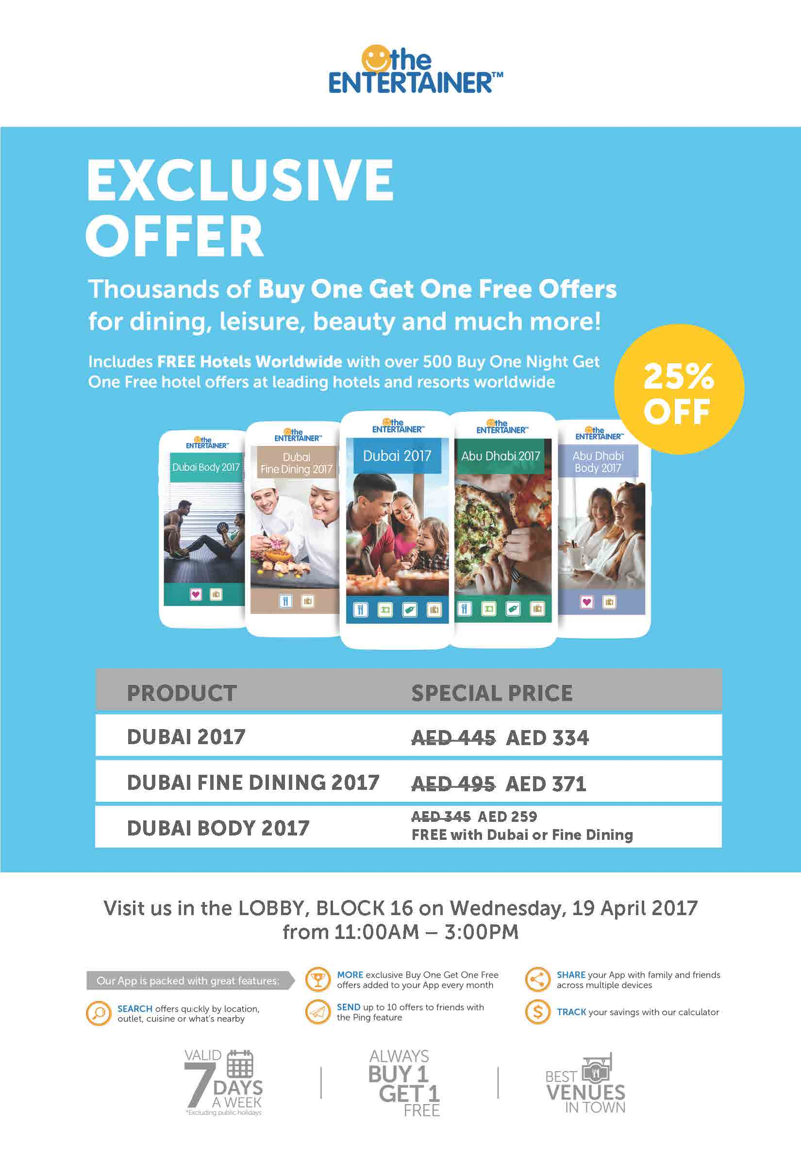 The Entertainer Offer for MDX Staff and Students