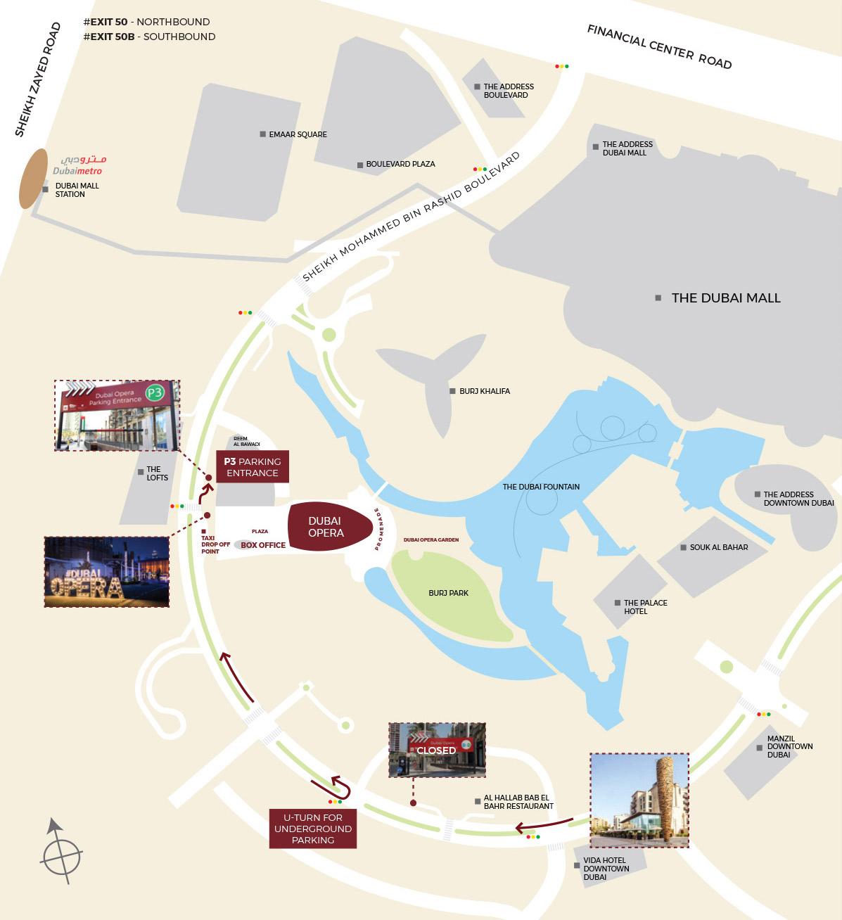 Dubai Opera Map