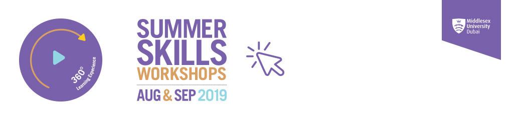 Summer Skills Workshops 2019