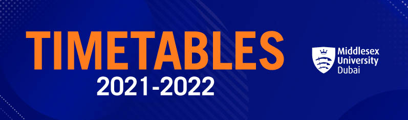 Timetables 2021