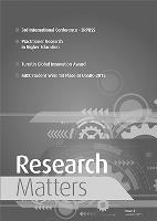 Research Matters Volume 3